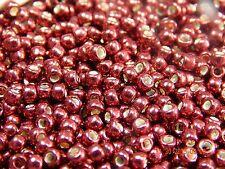 8/0 Galvanized Brick Red TOHO Round Glass Seed Beads 10 grams #564