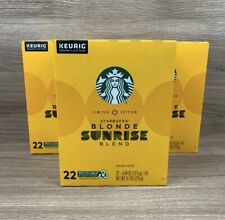 Starbucks Blonde Sunrise Blend K Cups 66 Pods Total Limited Edition