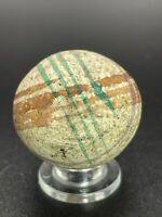 """Handmade Painted China Marble Large Unglazed Vintage China Marble 1.124"""""""