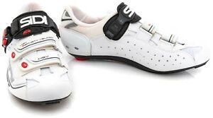 Sidi Genius 7 Carbon Road Bike Shoes EU 43 US Men 9 White 3 Bolt Triathlon Race