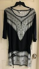 5th & Love, black & white bling dress, stretch,  women's size XL, NWT $50