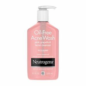 Neutrogena Oil-Free Salicylic Acid Pink Grapefruit Pore Cleansing Acne Wash...