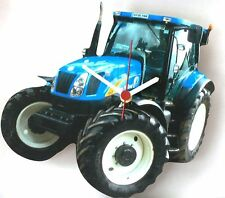 New Holland  Tractor Collectable Wooden Wall Clock  NEW