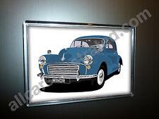 MORRIS MINOR FRIDGE MAGNET (LARGE). CHOOSE YOUR CAR COLOUR.