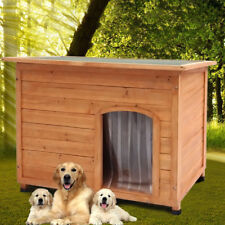 Large Wooden Insulated Wooden Dog Pet Kennel Outdoor House Removable Floor