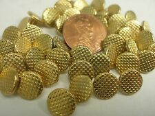 New 12 Electroplated 3/8 inch (9mm) Plastic Gold Weave Buttons (#C)