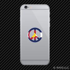 Colorado Flag Peace SymbolCO sign no war Cell Phone Sticker Mobile