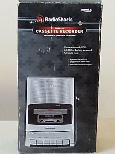 RadiaShack Desktop Desktop Cassette Recorder Voice Activated Open Box
