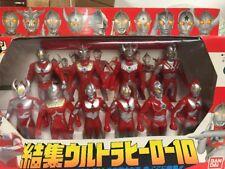 Bandai 1991 ULTRAMAN Ultra Hero 10 Figures Box Set Common Rider Power Rangers