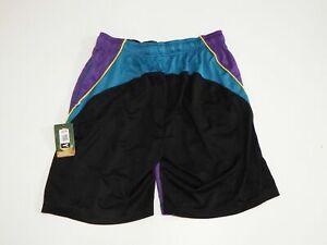 Medium Block Head Performance Mesh Athletic Shorts Purple Flow Society