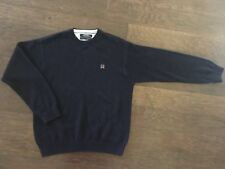 Tommy Hilfiger Men's Size L Large Blue Crew Pullover Sweatshirt  Long Sleeve Vtg