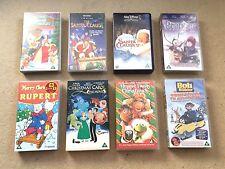 Children's Christmas VHS Tape Bundle- x8 Videos- Walt Disney & More!- Family- U