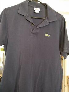 Mens Polo Shirt Vintage Lacoste Size 5 (Medium) Navy Blue