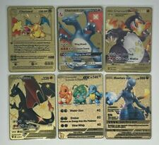 Metal Pokemon Cards | Golden 1st Edition CUSTOM - MINT! - Select your card!