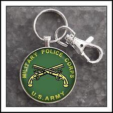 US Army Military Police MP Insignia Photo Keychain