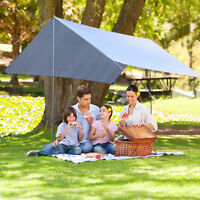 Outsunny 3 x 3m Outdoor Tarp Tent Camping BBQ Sun Shade Rain Cover Canopy Awning