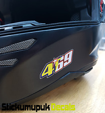 2 x 469 Nicky Hayden Stickers Superbike MotoGP Mugello Tribute Helmet Small 60mm