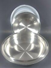 2 Walk-Away Air-Core Stainless Steel Convertible Bowls W/Lids 4 $ 2 Quart NEW