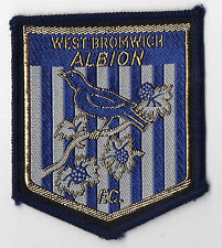 Original Vintage 1970s Sew On Patch West Bromwich Albion WBA Cloth Badge Unused