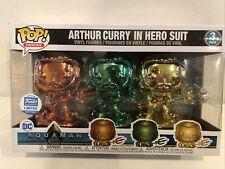 Funko Pop! Heroes: Aquaman - Chrome Arthur Curry In Hero Suit 3-Pack