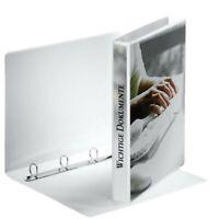 10x Esselte Ringbuch Präsentation 49701 A4 20mm weiss 4 Ringe Neu