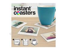 Sofortbild Untersetzer aus Glas für Polaroidbilder im 4-er Set