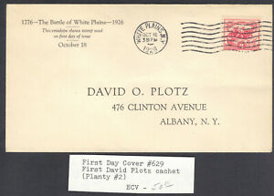 The Battle of White Plains, Sc No 629, Oct 18, 1926, Plotz 1st Cachet