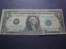 USA  1977 B  $1 New York, N. Y. Double Gutter Fold Error  Free Shipping
