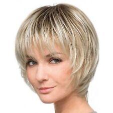 Fluffy Short Dark Blonde Heat Resistant Synthetic Capless Wig Hair For Women