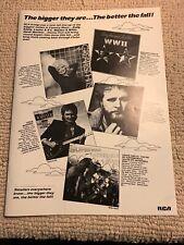 "13 1/2-10"" Dolly Parton Waylon Jennings Steve Wariner Album Ad FLYER"