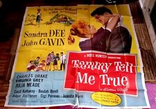 Tammy Tell Me True 6sh original movie poster 81x81 SANDRA DEE Virginia Grey 1961