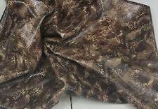 Brown Snake Print Sheep Skin Leather Hide 8sf Crafts Binding Handbag Lining