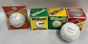 "Lot Of ""5"" UNUSED Vintage Wilson 12"" Softball TN-100, A9186, A9146, A9100 (A5)"