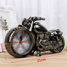 Desk Clock Cool Motorcycle Motorbike Design Alarm Home Office Table Decoration