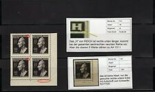 Böhmen & Mähren Nr.131 ** Heydrich Eckr. Viererbl.+ 2 Abarten F.89+99 (AA-131-R)