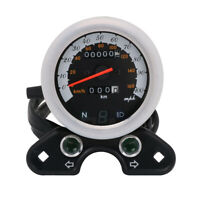 0-160 km/h LED Speedometer Odometer Gauge DC 12V Universal Motorcycle Black