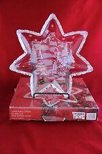 "Mikasa Glass Christmas Carol Star Serving Platter Tray 12 1/2"" 839/312 Holiday"