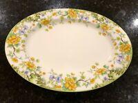 Vintage Mikasa Bone China Hampshire A6-003 Floral Pattern Oval Serving Platter
