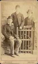 Carlisle. Gentlemen bowler hats pipes by J Warwick, 46 Sheffield Street (JD.254)
