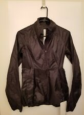 Lululemon Run With It Jacket NWT Sz 2 Black Color Reflective Water Resistant