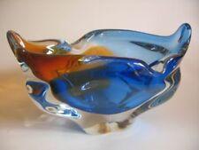 Blue Mid-Century Modern Bohemian & Czech Art Glass