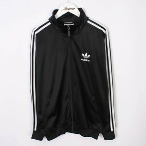 Vintage 90s Adidas Originals Firebird Track Jacket In Black Size M | Retro