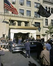 President John F. Kennedy and Jackie leave Carlyle Hotel New York New 8x10 Photo
