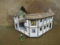 2 Story Half Timbered Corner Building (Mordheim Version)