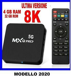 SMART TV BOX ANDROID 10.0 IPTV 8KFULL HD 1080 4GB 32GB ROM DECODER WIFI MOD 2020