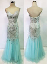 Glamour by TERANI Couture Light Blue Prom Gown 2 - $260 NWT