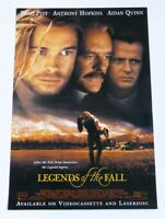 LEGENDS OF THE FALL MOVIE POSTER ORIGINAL 27x40 BRAD PITT ANTHONY HOPKINS 1994