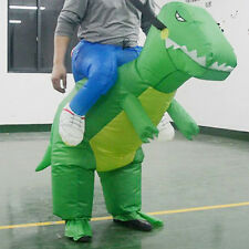 Adult Inflatable Costume T-Rex Dinosaur Suit Blowup Halloween Dragon Ride Outfit