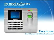"Fingerprint Recording Attendance Clock Time Card Machine 2.4"" TFT LCD Display"