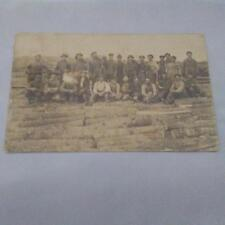 Group Men Workers Logging Lumber Real Photo Postcard Vintage RPPC